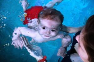 niemowlę podwodą